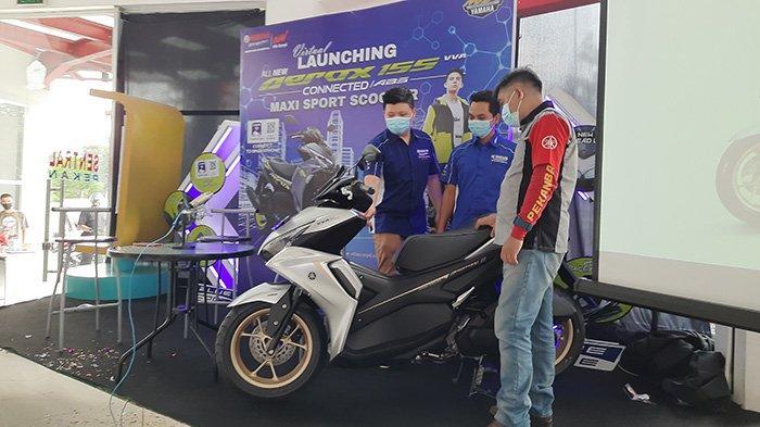 All New Aerox 155 Connected, Perpaduan Motor Sport dan Matic Canggih,Sudah Bisa Dibeli di Pekanbaru