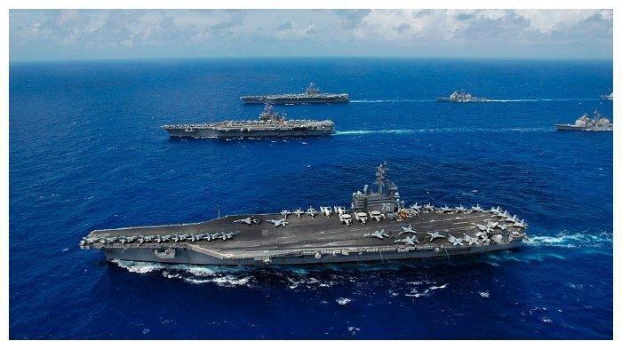 Gawat, 'Hilal' Perang Dunia III Mulai Terlihat, Kapal Induk Amerika Masuk LCS, China Tak Terima
