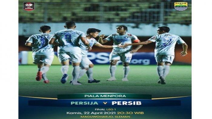 LIVE Persija vs Persib Bandung Leg Pertama Final Piala Menpora 2021 Sore Ini
