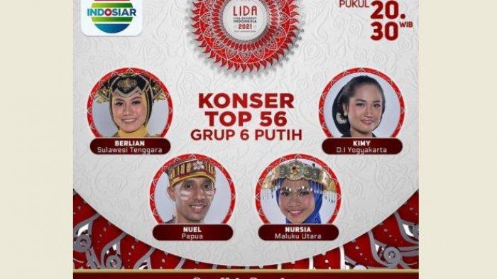 Malam Ini LIDA 2021, Ada Kimy, Nuel, Berlian dan Nursia di TOP 56 Grup 6 Putih