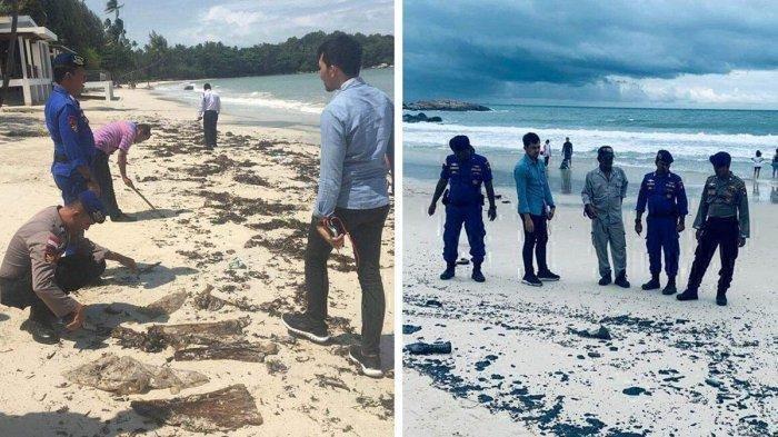 Limbah Minyak Menempel di Pasir Pantai, Turis Asing di Kawasan Wisata Bintan Protes