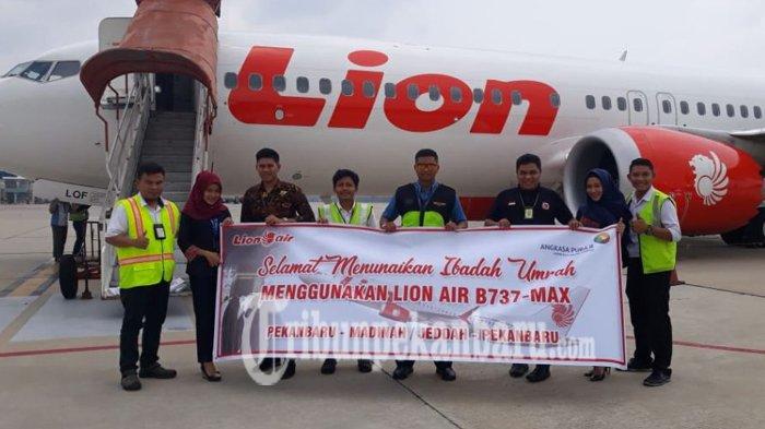 Lion Air Kembali Akomodir Penerbangan Langsung Jamaah Umrah dari Pekanbaru