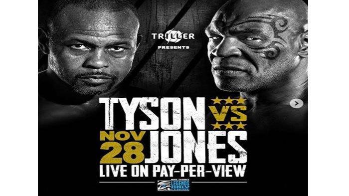 LIVE Mike Tyson vs Roy Jones Jr Akhir Pekan Ini, Laga Amal Memperebutkan Sabuk Khusus WBC