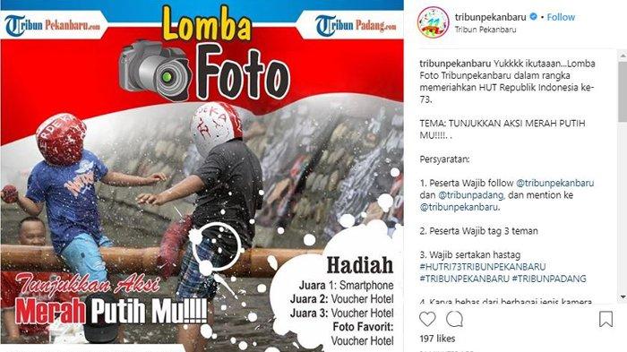 HUT RI ke 73, Ikuti Lomba Foto di Instagram Tribun Pekanbaru