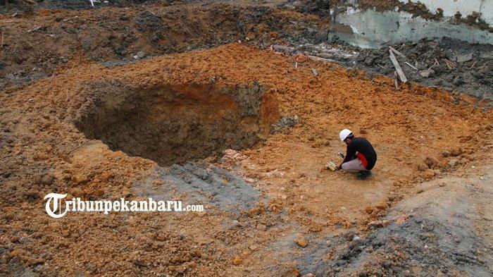 FOTO : Penanganan Semburan Gas Lumpur di Pekanbaru