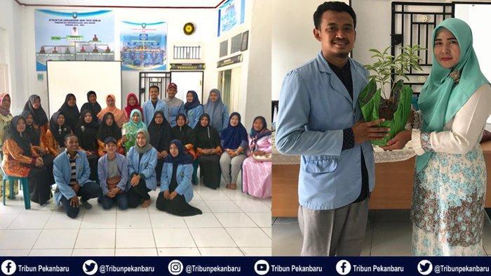 Mahasiswa Kukerta UNRI Sosialisasikan Teknologi Tepat Guna Pembuatan Pot Bunga dari Pakaian Bekas