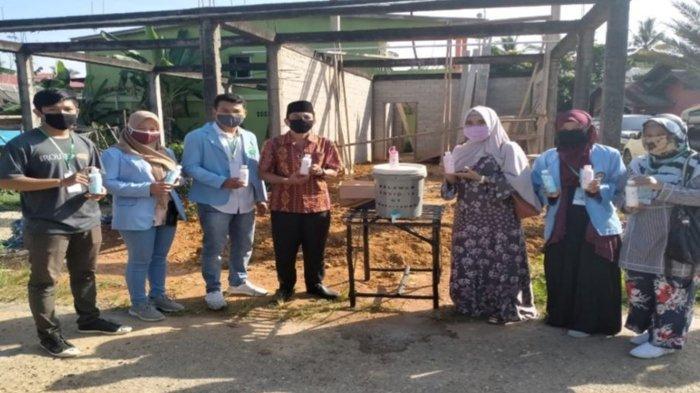 Mahasiswa Sarana Sabun Cuci Tangan dan Pantau ODP dan PDP untuk Cegah Penyebaran Covid-19