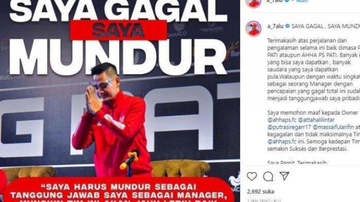 2 Kali Kalah di Liga 2 2021, Manajer AHHA PS Pati Mengundurkan Diri, 'Saya Gagal, Saya Mundur'