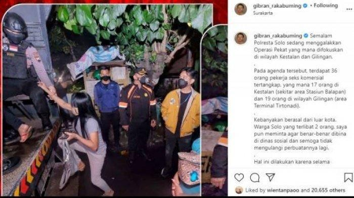 Mantap Pak Gibran Rakabuming, Langsung Gerebek PSK di Kota Solo, Buat Gebrakan Padahal Baru Dilantik