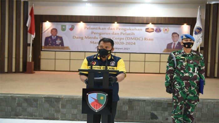 Lantik Kepengurusan Baru, Danlanud Rsn Berharap DMDC Bangkit Kembali dan Harumkan Nama Riau