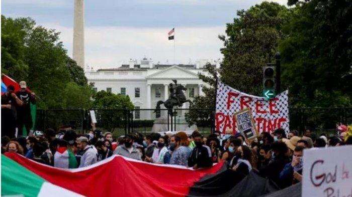 Massa Aksi Bela Palestina Dan Massa Aksi Pro Israel Baku Hantam Di New York City