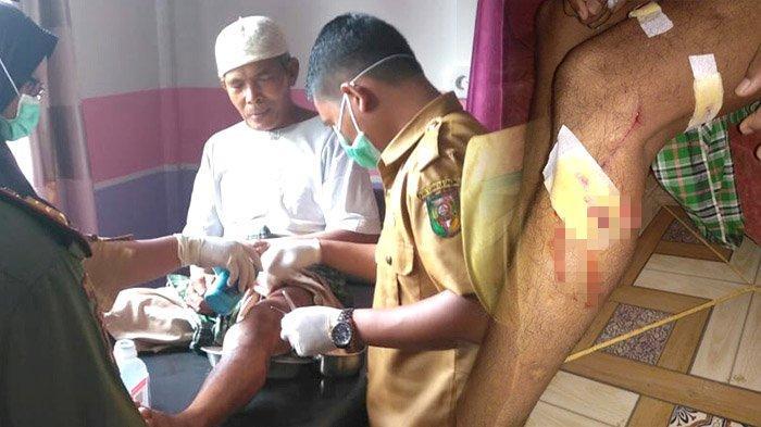 Buaya Terkam Kaki Warga di Pinggir Sungai Kuantan Riau, Tim SKW I BBKSDA Pasang Rambu Peringatan