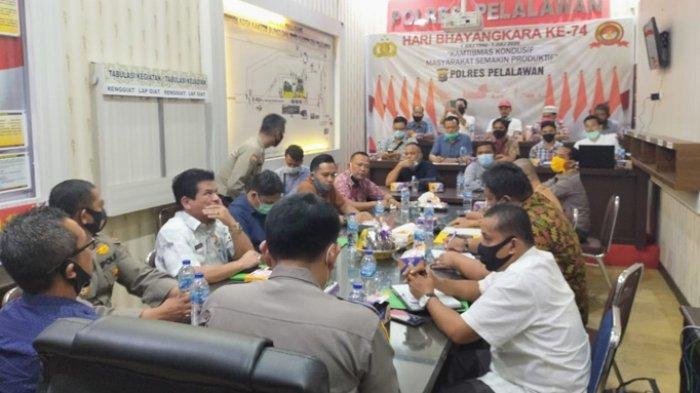 Hutang Piutang KKPA Jasa Sepakat dengan PT Sari Lembah Subur Dimediasi Polsek Pangkalan Lesung
