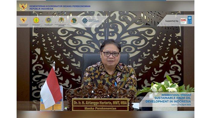Menko Airlangga Hartarto:Indonesia Berkomitmen Hadirkan Industri Kelapa Sawit Berkelanjutan