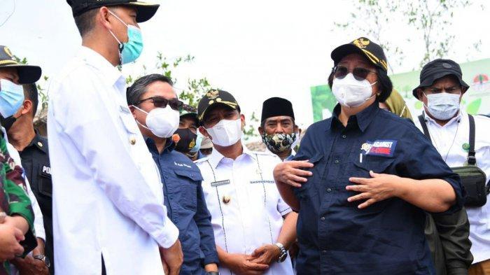 Menteri LHK Siti Nurbaya ke Dumai, Wabup Sampaikan Potensi Wisata Pulau Ketam dan Payung Rupat