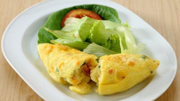 Menu Sarapan Sehat Pagi Ini, Resep Omelet Gulung, Cara Membuat Omelet Gulung yang Praktis