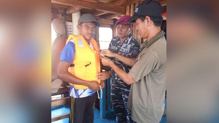 TNI AL Sosialisasi Keselamatan Berlayar di Pelabuhan Tanjung Harapan, Meranti