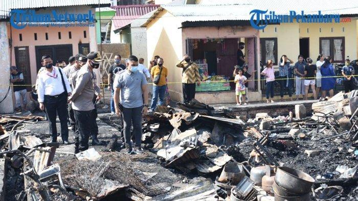 Mie Jowo Terbakar, 9 Rumah Kontrakan Dilahap Si Jago Merah, Belum Dilaporkan Ada Korban Jiwa