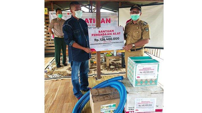 Mitigasi Bencana Karhutla, Pertamina RU II Dumai Latih dan Bantu MPA Tanjung Palas