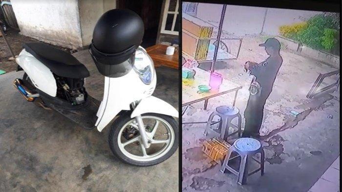 Motor Kakek Penjual Bubur Ayam Dilarikan Pria Berpakain Rapi, Pelaku Tinggalkan Motor Mogok