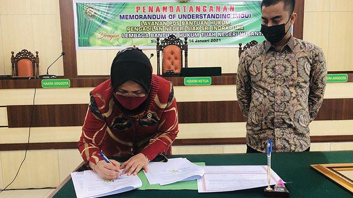 Teken MoU, LBH Tuah Negeri Nusantara Dipercaya Lagi Mengisi Posbakum di PN Siak
