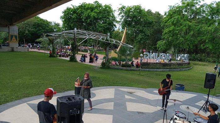 Galang Dana untuk Palestina, MTJ Entertainment Live Perform di Taman Tengku Agung Siak Selama 2 Hari