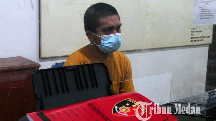 INILAH Tampang Peludah Petugas PLN di Medan saat Ditangkap Polisi: Wajah Bang Jago Muram