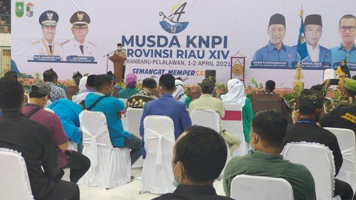 Musda KNPI Riau di Pelalawan, Ini Pesan Bupati Harris