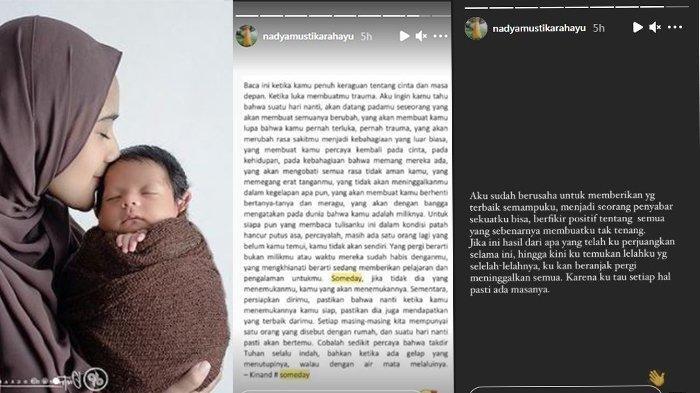 Nadya Mustika posting kalimat galau di InstaStory-nya.
