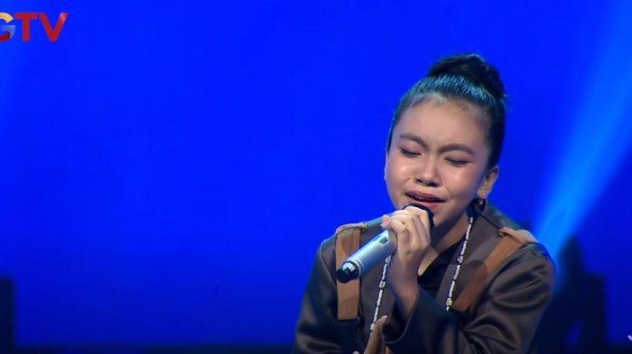 Najla asal Bukittinggi Lolos ke Babak Live Round The Voice Kids Indonesia 2021