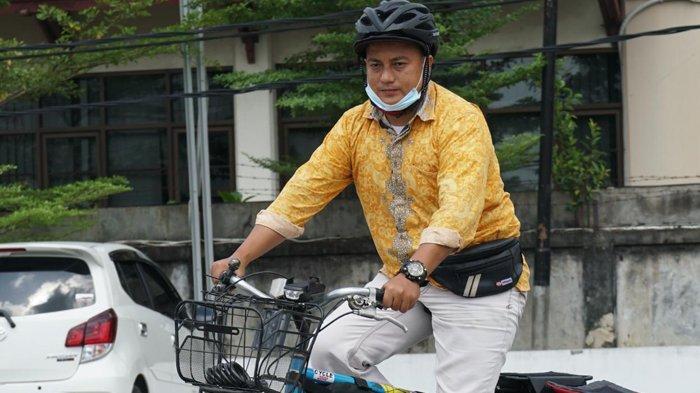 Napak Tilas Perjuangan Sultan Syarif Kasim II, Habibie Bersepeda ke Titik Nol Kilometer di Sabang