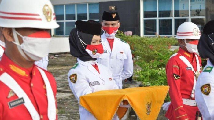 Bangga Jadi Pembawa Baki Pengibar Bendera HUT RI ke-76, Naya: Terima Kasih Ibu. . .