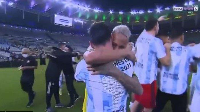 Timnas Argentina Juarai Copa America 2021, Neymar Peluk Erat Lionel Messi