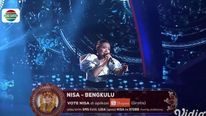 Hasil Top 42 LIDA 2021, Grup 1 Merah, Nisa Bengkulu mendapatkan polling tertinggi