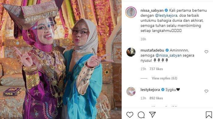 Nissa Sabyan Posting Foto, Tapi Lesti Kejora Malah Dapat Peringatan, Ternyata Gara-gara Hal Ini