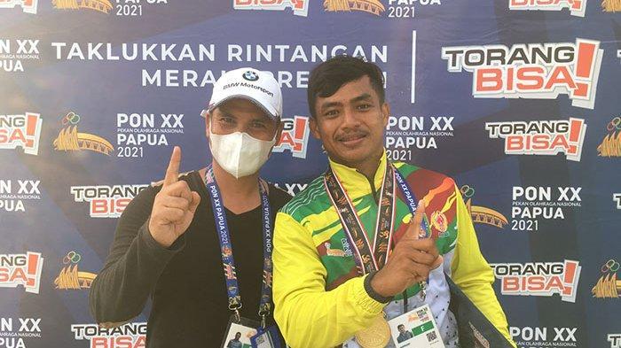 Atlet Nopriadi raih medali emas di nomor Canoe Slalom dan menambah pundi-pundi medali bagi Riau di PON 2021 Papua.