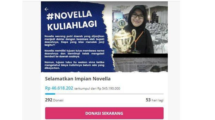 Tunggakan Biaya Kuliah Capai Rp. 545.190.000, Mahasiswi Asal Rohul Ini Galang Dana di Kitabisa.com