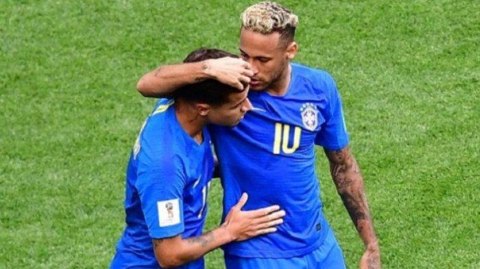 Dihitung TV Swasta Swiss Neymar Habiskan 14 Menit Guling-guling di Lapangan Saat Piala Dunia 2018