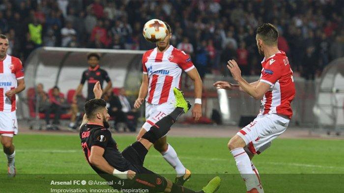 Hasil Liga Europa, Arsenal Menang Berkat Gol Salto Olivier Giroud