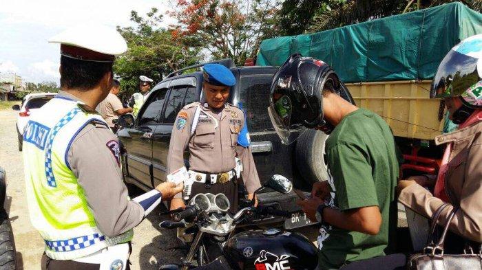 Terbanyak Ditilang Pengendara Tanpa Helm, Pelanggar Operasi Patuh 2020 di Inhu Turun Dibanding 2019