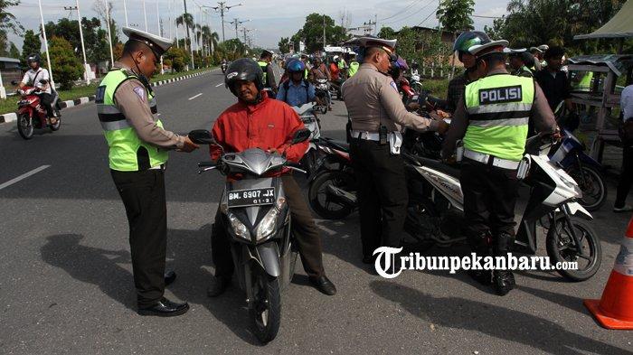 Operasi Ketupat 2019, Pelanggaran Lalu Lintas Meningkat Tajam di Riau Sepeda Motor Masih Mendominasi