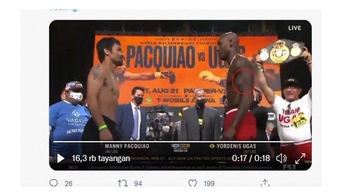 LIVE Tinju Manny Pacquiao vs Yordenis Ugas: The Pacman Diprediksi Menang TKO karena VIDEO Ini