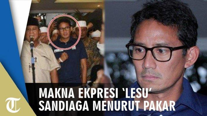 Pakar Ekspresi Handoko Gani Bocorkan Makna Ekspresi Sandiaga Uno Saat Deklarasi Klaim Kemenangan