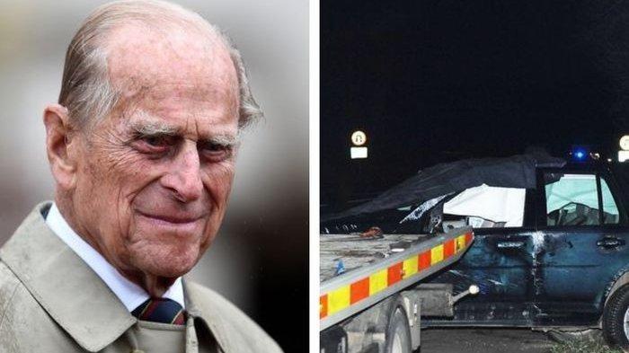 Mobil Land Rovernya Ditabrak Hingga Terbalik, Pangeran Philip Justru Yang Terancam Dituntut