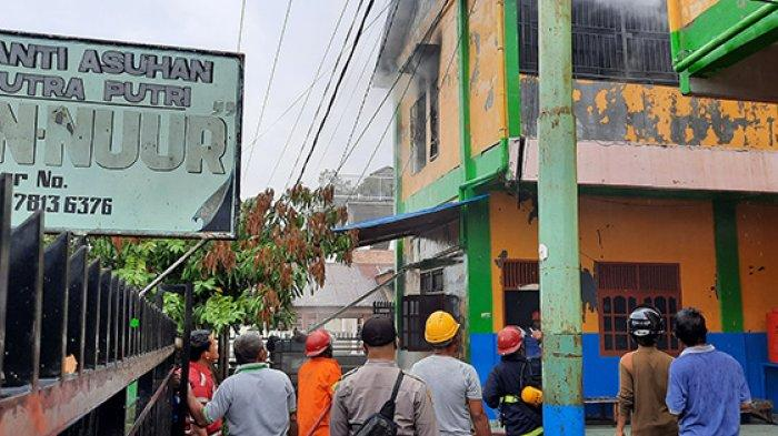 UPDATE Kebakaran Panti Asuhan An-Nur, Polres Dumai Turunkan Tim Inafis