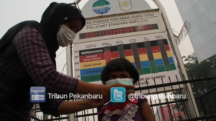 Karhutla di Pekanbaru Tidak Ada, Tapi Kabut Asap Tebal di Pekanbaru dan ISPU Berbahaya Ini Kata BMKG