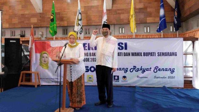 Bakal Calon Bupati Ini Menangis Saat Deklarasi, Ingat Anaknya yang Berbeda Kubu di Pilkada Semarang