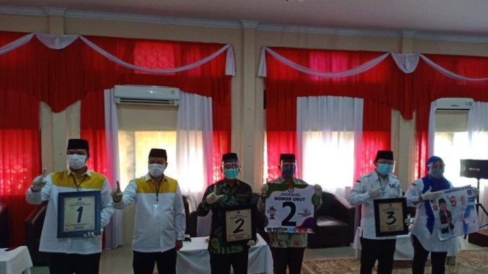 Tiga Paslon Pilkada Kuansing yang akan bertarung di Pilkada Kuansing 2020 dengan nomor urutnya