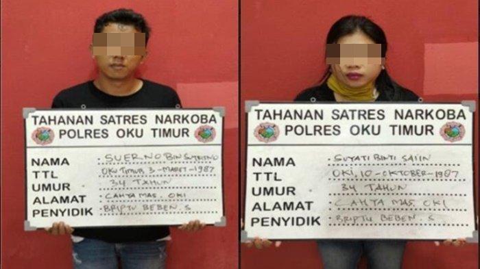 Bela-belain Simpan Sabu di Celana Dalam Istri Eh Ketahuan Juga, Pasutri Ini Pasrah Dicokok Polisi