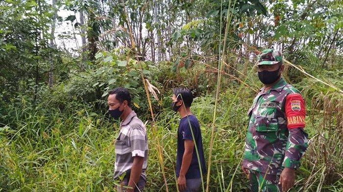 Koramil 05 Kampar Kiri Bersama MPA Patroli Rutin Cegah Karhutla di Kampar Riau